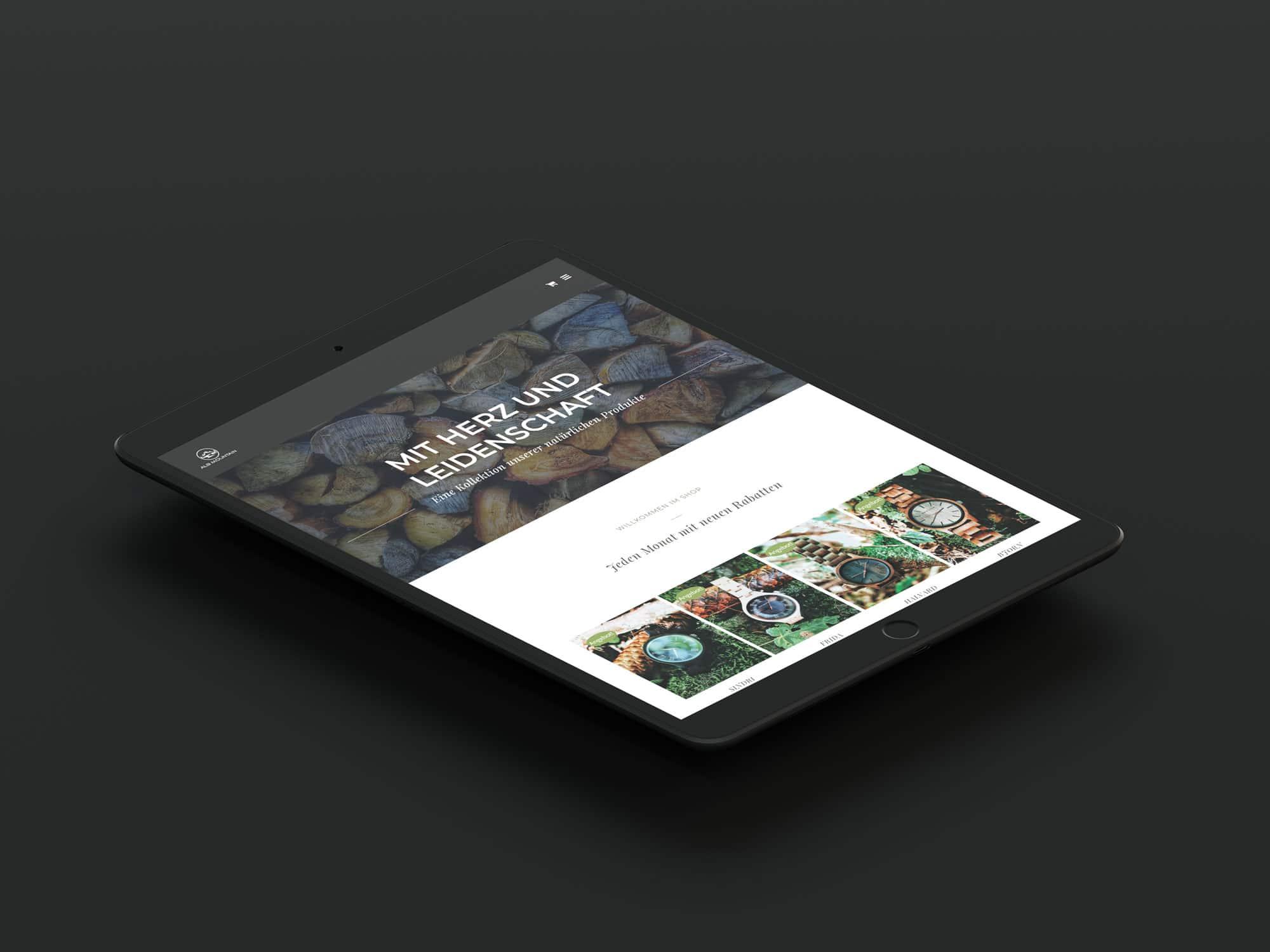 liebespixel-agentur-alb-mountain-tablet-webseite-mockup